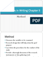 Guidelines in Writing Chapter II
