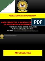 Antecedentes y Marco Conceptual de La Seguridad Ciudadana Del Peru