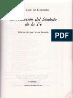 Fray Luis de Granada-Int Al Símbolo de La Fe-Guía de Pecadores