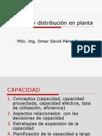 Capacidad y Distribucion en Planta