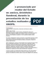Presentación de Los Estudios Realizados Por La UNOPS