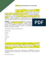 Contrato de Suministro y Venta de Productos Con Exclusividad Revisado