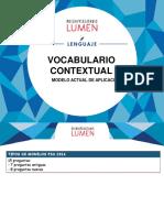 3.10 Léxico Contextual Vocabulario