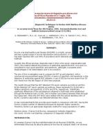 Comparación Entre Dos Técnicas de Diagnóstico Para Diarrea Viral
