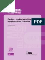 Empleo y Productividad Laboral Agropecuaria en Colombia