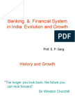 Banking System Evolution and Growth