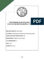Programa PE de Metafisica (Perez)[2º Cuatrimestre 2018]
