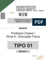 Prova seduc 2018 Pará