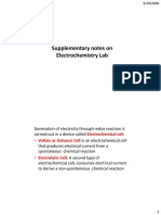 Supplementary Notes on Electrochemistry Lab