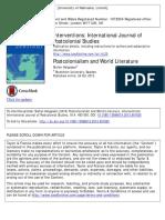 Postcolonialism and World Literature
