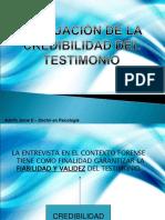 Evaluacion de La Credibilidad Del Testimonio