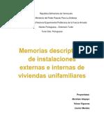 Memorias Descriptivas de Instalaciones
