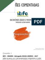 Raciocínio Lógico Resolução de Questões IBFC