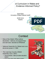 The School Curriculum in Wales and Devolution