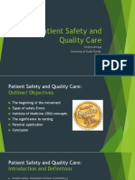 patient safety and quality care movement presentation