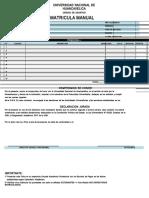 Ficha Matricula Manual 2018 1