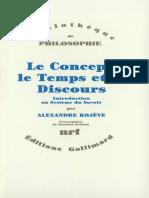 Le Concept Le Temps Et Le Discours