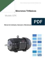 WEG Alternadores Sincronos Linha GTK 10656192 Manual Portugues Br