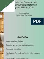 England ECER England Curriculum Symposium