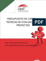 Presupuesto de Capital y Tecnicas de Evaluacion de Proyectos
