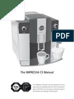 Instructions for Use, Manual JURA IMPRESSA C5