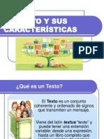 3.6. El Texto y Sus Características - Tipología