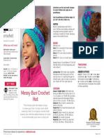 LW5603 Messy Bun Crochet Hat Free Pattern