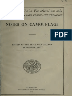 1917 Notes on Camouflage Army War College