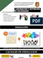 Disolucion,Liquidacion y Extincion de Sociedades.
