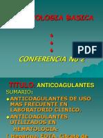 Hematologia Basica C-2 Anticoagulantes
