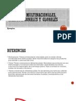 Empresas Multinacionales, Transnacionales y Globales