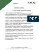 04/02/18 Reconoce ISSSTESON a Nutriólogos y estudiantes de Servicio Social