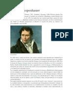 Biografia Arthur Schopenhauer