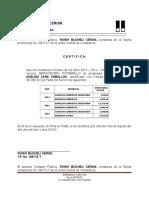 Certificado Fanny