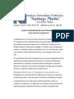 Aplicabilidad de La Bioingenieria