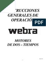 INSTRUCCIONES Para Motores Webra 2 Tiempos
