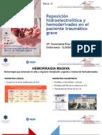 Reposicion Hidroelectrolitica y Hemoderivados en El Trauma Grave Esmeralda Rua