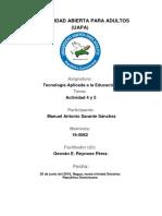 Tarea 4 y 5 de Tecnologia Aplicada a Ala Educacion