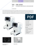 Kowa Ophthalmic Diagnostics KW 2000 Brochure