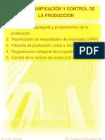 PLANIFICACIÓN Y CONTROL DE LA PRODUCCIÓN