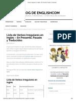 Verbos Irregulares en Inglés – en Presente, Pasado y Traducidos