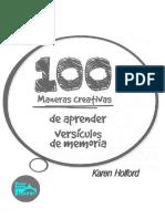 100 Ideas Para Aprender Versiculos