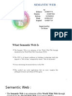 Presentation - Seminar - Semantic Web