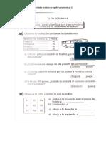 Actividades practicas de español y  matemáticas 2°
