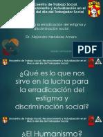 Lucha para la Erradicación del Estigma y Discriminación Social
