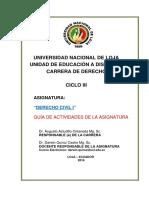 Guia de Trabajo - Primera Unidad - Derecho Civil i