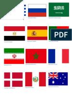 Banderas Del Mundial 2018