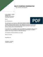 Triple c Request Letter