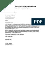 Abasto Request Letter