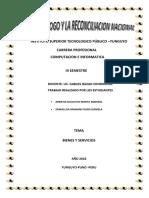 Trabajo ..Instituto Superior Tecnologico Público 2018